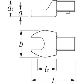 HAZET Gabelschlüssel 6450C-15