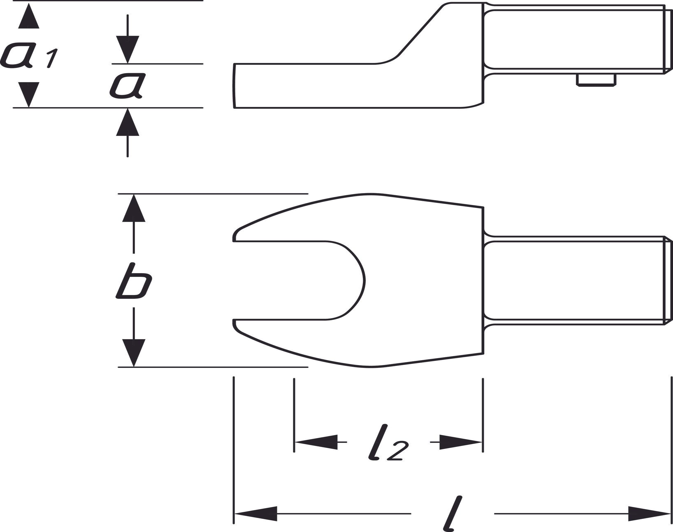 HAZET  6450C-15 Gabelschlüssel