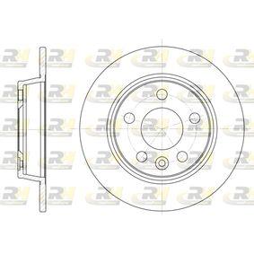 Bremsscheibe Bremsscheibendicke: 10mm, Lochanzahl: 5, Ø: 268mm, Ø: 268mm mit OEM-Nummer 7MO 615 601 C