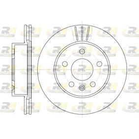Bremsscheibe Bremsscheibendicke: 22mm, Lochanzahl: 5, Ø: 276mm mit OEM-Nummer 638 421 0112