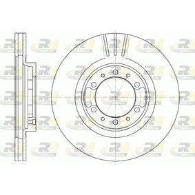 Brake Disc Brake Disc Thickness: 24mm, Num. of holes: 6, Ø: 276mm, Ø: 276mm with OEM Number MR 129648