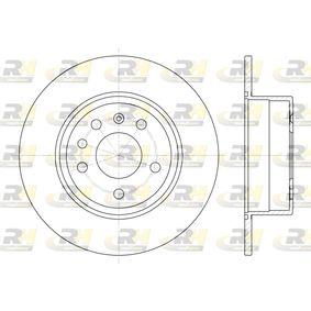 Bremsscheibe Bremsscheibendicke: 10mm, Lochanzahl: 5, Ø: 286mm mit OEM-Nummer 93182293