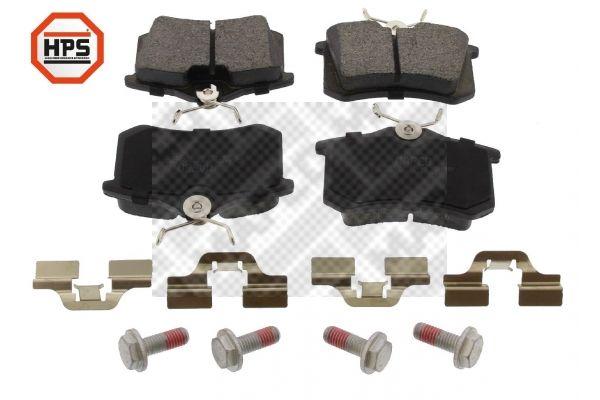 MAPCO  6492HPS Bremsbelagsatz, Scheibenbremse Breite: 87,6mm, Höhe: 52,9mm, Dicke/Stärke: 17,2mm