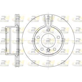 Bremsscheibe Bremsscheibendicke: 22mm, Lochanzahl: 5, Ø: 296mm mit OEM-Nummer 34111163013