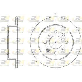 Спирачен диск дебелина на спирачния диск: 9мм, брой на дупките: 4, Ø: 239мм, Ø: 239мм с ОЕМ-номер 42510SE0000