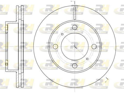 ROADHOUSE  6539.10 Bremsscheibe Bremsscheibendicke: 22mm, Lochanzahl: 4, Ø: 255mm