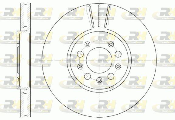 ROADHOUSE  6544.10 Bremsscheibe Bremsscheibendicke: 25mm, Lochanzahl: 5, Ø: 288mm