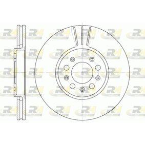 Bremsscheibe Bremsscheibendicke: 25mm, Lochanzahl: 5, Ø: 288mm mit OEM-Nummer 1J0615301C
