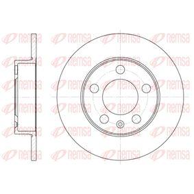 Bremsscheibe Bremsscheibendicke: 9mm, Lochanzahl: 5, Ø: 232mm, Ø: 232mm mit OEM-Nummer 6QD615601