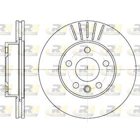 Bremsscheibe Bremsscheibendicke: 24mm, Lochanzahl: 5, Ø: 280mm mit OEM-Nummer 7D0 615 301 A