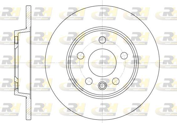 ROADHOUSE  6558.00 Bremsscheibe Bremsscheibendicke: 12mm, Lochanzahl: 5, Ø: 280mm, Ø: 280mm