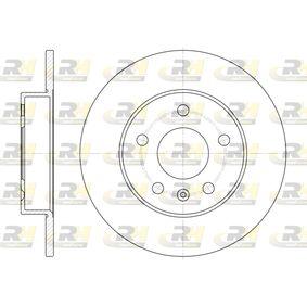 Bremsscheibe Bremsscheibendicke: 10mm, Lochanzahl: 5, Ø: 264mm mit OEM-Nummer 91 17 772