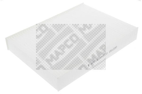 MAPCO  65814 Filter, Innenraumluft Länge: 255mm, Breite: 182mm, Höhe: 35mm