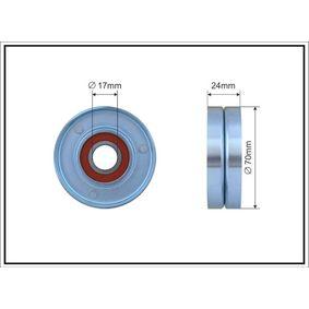 Spannrolle, Keilrippenriemen Breite: 24mm mit OEM-Nummer 038903315E
