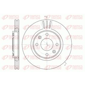 Bremsscheibe Bremsscheibendicke: 22mm, Lochanzahl: 4, Ø: 266mm mit OEM-Nummer 4246 W7