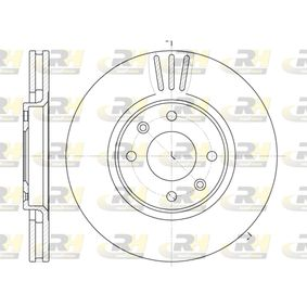 Bremsscheibe Bremsscheibendicke: 26mm, Lochanzahl: 4, Ø: 283mm mit OEM-Nummer 4249,17