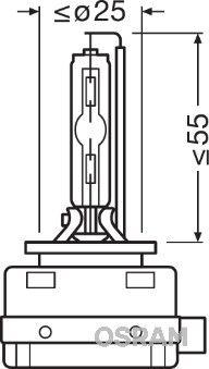 Bulb, spotlight 66140ULT OSRAM D1S original quality