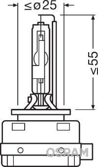 Bulb, spotlight 66150 OSRAM D1R original quality