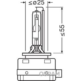 Glühlampe, Fernscheinwerfer D1R (Gasentladungslampe), 35W, 85V 66150