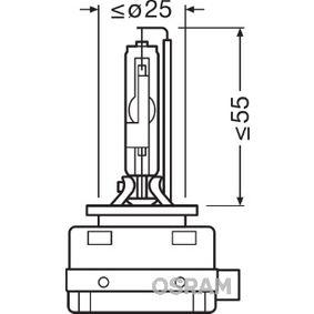 Крушка с нагреваема жичка, фар за дълги светлини D1R (газоразрядна лампа), 35ват, 85волт 66150CBI