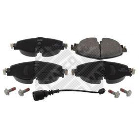 Kit de plaquettes de frein, frein à disque Largeur: 160mm, Hauteur: 65mm, Épaisseur: 20mm avec OEM numéro 5Q0 698 151 A