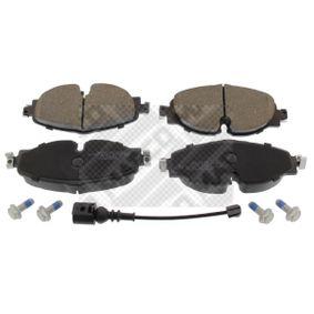 Kit de plaquettes de frein, frein à disque Largeur: 160mm, Hauteur: 65mm, Épaisseur: 20mm avec OEM numéro 5Q0698151B