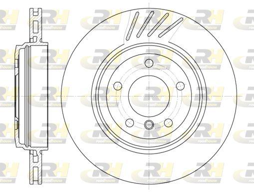 ROADHOUSE  6645.10 Bremsscheibe Bremsscheibendicke: 22mm, Lochanzahl: 5, Ø: 319mm