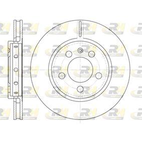 Bremsscheibe Bremsscheibendicke: 21,9mm, Lochanzahl: 5, Ø: 256mm, Ø: 256mm mit OEM-Nummer 8L0615601