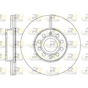 Bremsscheibe Bremsscheibendicke: 24,9mm, Lochanzahl: 9, Ø: 287,8mm, Ø: 287,8mm mit OEM-Nummer 1K0 615 301 K