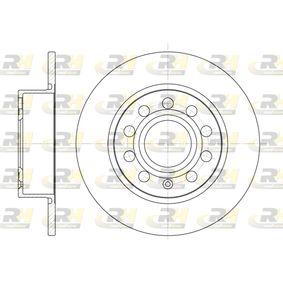 Bremsscheibe Bremsscheibendicke: 9,9mm, Lochanzahl: 9, Ø: 254,7mm mit OEM-Nummer 1K0 615601AB
