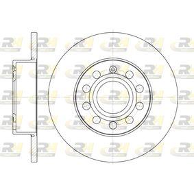 Bremsscheibe Bremsscheibendicke: 11,9mm, Lochanzahl: 9, Ø: 259,8mm mit OEM-Nummer 1K0-615-601L