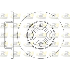 Bremsscheibe Bremsscheibendicke: 11,9mm, Lochanzahl: 9, Ø: 259,8mm mit OEM-Nummer 1K0615601L