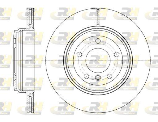 ROADHOUSE  6654.10 Bremsscheibe Bremsscheibendicke: 20mm, Lochanzahl: 5, Ø: 320mm