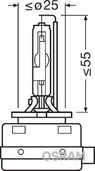 Bulb, spotlight 66548 OSRAM D8S original quality