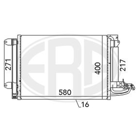 Kondensator, Klimaanlage mit OEM-Nummer 1K0.820.411 AH