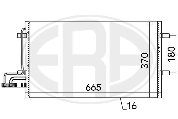 ERA  667029 Kondensator, Klimaanlage
