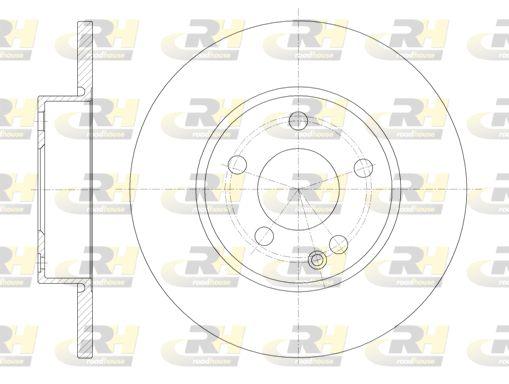 ROADHOUSE  6674.00 Bremsscheibe Bremsscheibendicke: 12,2mm, Lochanzahl: 5, Ø: 276mm