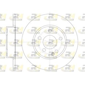 Bremsscheibe Bremsscheibendicke: 12,2mm, Lochanzahl: 5, Ø: 276mm mit OEM-Nummer 169.421.00.12