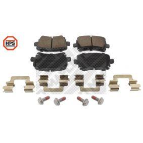 Bremsbelagsatz, Scheibenbremse Breite: 105,3mm, Höhe: 55,9mm, Dicke/Stärke: 17,1mm mit OEM-Nummer 1K0698451H