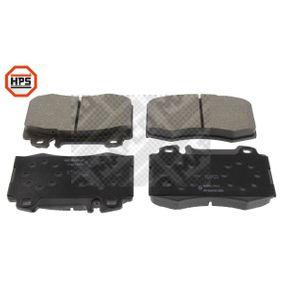 Fékbetét készlet, tárcsafék 6699HPS E-osztály Sedan (W211) E 220 CDI 2.2 (211.006) Év 2002