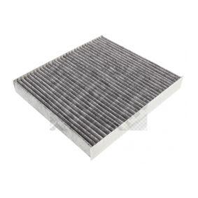 Filter, Innenraumluft Länge: 255mm, Breite: 234mm, Höhe: 30mm mit OEM-Nummer 5Q0819669