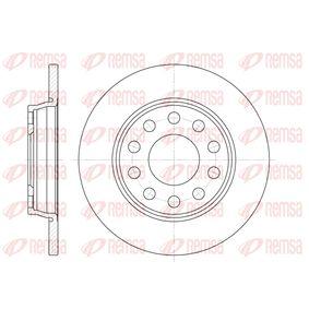 Bremsscheibe Bremsscheibendicke: 12mm, Lochanzahl: 10, Ø: 255mm, Ø: 255mm mit OEM-Nummer 8E0.615.601D
