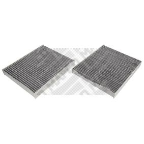Filter, Innenraumluft Länge: 246mm, Breite: 206mm, Höhe: 30mm mit OEM-Nummer 64119163329