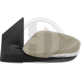 DIEDERICHS Side view mirror Left, Complete Mirror, Convex, for electric mirror adjustment, Primed