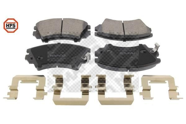 MAPCO  6859HPS Brake Pad Set, disc brake Width: 141,9mm, Height: 66,7mm, Thickness: 19mm