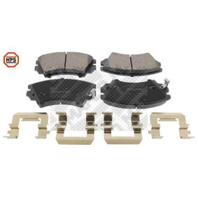 Brake Pad Set, disc brake Width: 141,9mm, Height: 66,7mm, Thickness: 19mm with OEM Number 1605434