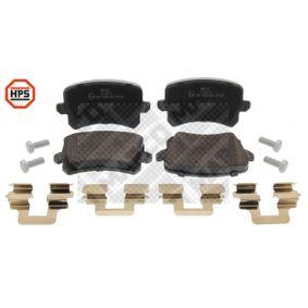 Bremsbelagsatz, Scheibenbremse Breite: 105,2mm, Höhe: 56,4mm, Dicke/Stärke: 16,9mm mit OEM-Nummer 1K0 698 451L