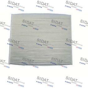 Filter, Innenraumluft Länge: 218mm, Breite: 266mm, Höhe: 21mm mit OEM-Nummer 71754151