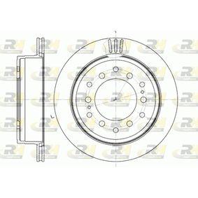 Disque de frein Épaisseur du disque de frein: 18mm, Nbre de trous: 6, Ø: 312mm avec OEM numéro 4243160200