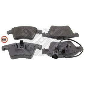 Brake Pad Set, disc brake Width: 156,5mm, Height: 74,8mm, Thickness: 18,5mm with OEM Number 7L6 698 151 F